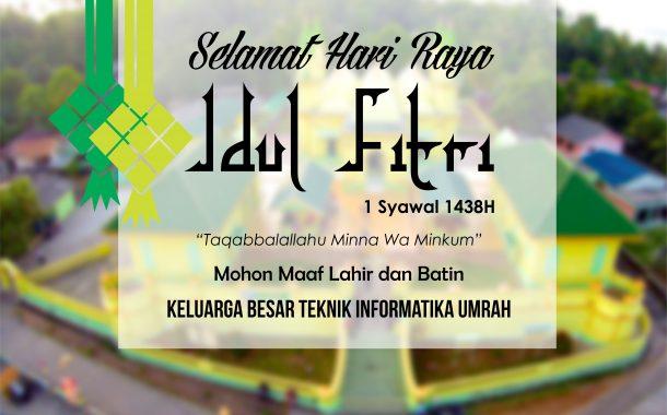 Selamat Aidil Fitri 1438 H