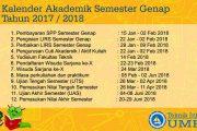Kalender Akademik Semester Genap 2017/2018