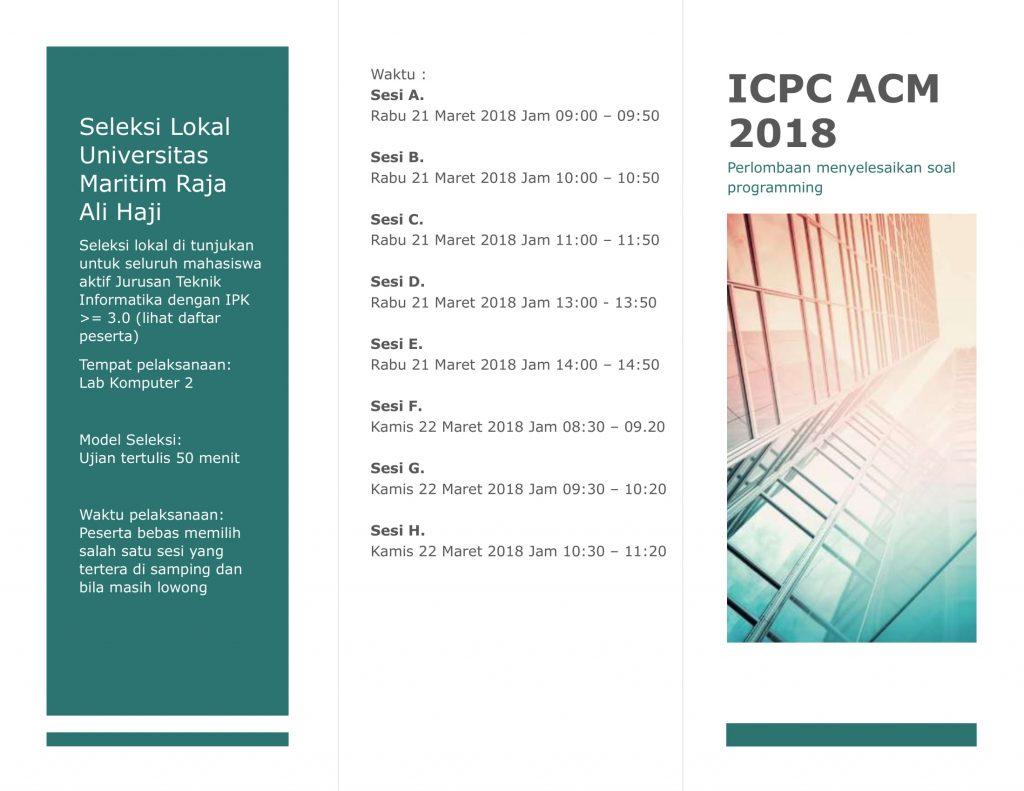 Jago Ngoding? Tunjukkan Potensimu di ICPC 2018!